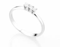 GioielleriaMaglione.it - Anello Trilogy Diamonds Luxury con 3 Diamanti 0.14ct in oro bianco 18kt