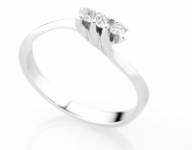 18K White Gold and Trilogy 0.14ct Natural Diamonds Ring
