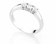 GioielleriaMaglione.it - Anello Trilogy Diamonds Luxury con 3 Diamanti 0.27ct in oro bianco 18kt