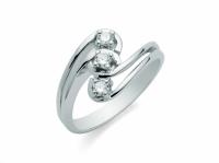 GioielleriaMaglione.it - Anello Trilogy Miluna con Diamanti Naturali 0.18ct in oro bianco 18kt LID1629-D18S