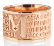 GioielleriaMaglione.it - Anello Tuum Tuam in Oro rosa 9kt con Ave Maria in latino