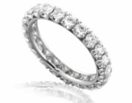 GioielleriaMaglione.it - Anello Veretta Eternity Roger Gems con giro di Diamanti Naturali IF 1.45ct in oro bianco 18kt