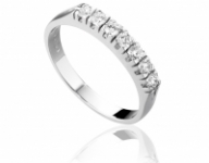 Anello Veretta Roger Gems con 7 Diamanti Naturali IF 0.40ct in oro bianco 18kt