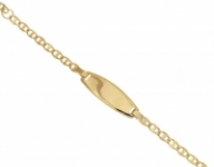 18K Yellow Gold Bracelet with customizable nameplate
