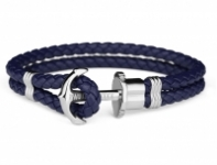 GioielleriaMaglione.it - Paul Hewitt PHREPS - Anchor Bracelet with Blue Leather
