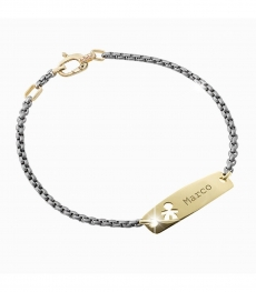 GioielleriaMaglione.it - Le Bebè - 9K Yellow Gold Boy and Boy Bracelet customizable with name