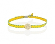 Le Bebè - 9k Yellow Gold Bracelet with boy and girl