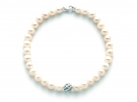 18K White Gold and White Pearls Bracelet MILUNA
