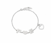 GioielleriaMaglione.it - My Charm - Bracelet in 925% white, yellow or pink silver with customizable name