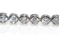 GioielleriaMaglione.it - Bracciale Tennis classico cipollina in argento 925 rodiato con zirconi taglio brillante