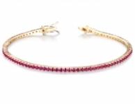 GioielleriaMaglione.it - Bracciale Tennis Unisex Roger Gems con circa 3.00ct di Rubini in oro rosa 18kt