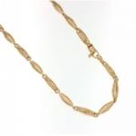 GioielleriaMaglione.it - Catena vuota in oro giallo 18kt modello barilotto ovale a 60 cm