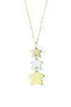 GioielleriaMaglione.it - 18K Yellow and White Gold Stars Necklace