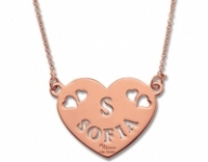 GioielleriaMaglione.it - My Charm - Heart Pendant Necklace in white, yellow or pink silver with a customizable name