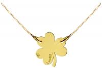 GioielleriaMaglione.it - Catenina con ciondolo My Charm trifoglio collezione Mini Charm in oro giallo o bianco 18kt
