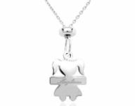 GioielleriaMaglione.it - 925 Silver Girl Pendant Necklace Customizable with Name