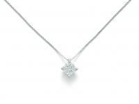 Catenina girocollo Miluna punto luce con Diamante Naturale 0.12ct in oro bianco 18kt CLD4106