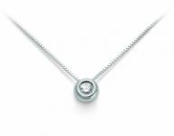 GioielleriaMaglione.it - Catenina girocollo Punto Luce Roger Gems con Diamante Naturale IF 0.18ct in oro bianco 18kt