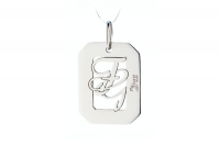 GioielleriaMaglione.it - My Charm - Pendant in white, yellow or pink gold with a customizable name for Man