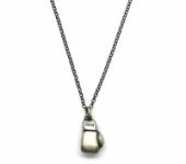 GioielleriaMaglione.it - Collana con guantone Boxe da pugile in argento 925% brunito