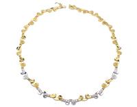 GioielleriaMaglione.it - Collana in oro giallo e bianco 18kt con pietre sintetiche
