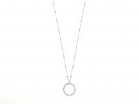 GioielleriaMaglione.it - Collana lunga KIARA con Cerchio e zirconi collezione Design