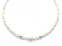 GioielleriaMaglione.it - 18K White Gold and White Pearls Necklace MILUNA