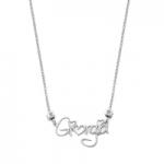 GioielleriaMaglione.it - Collana My Charm in argento 925% giallo rosa o bianco con nome in corsivo personalizzabile