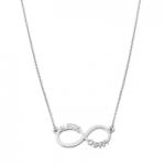 GioielleriaMaglione.it - Collana My Charm Infinito in argento 925% giallo rosa o bianco personalizzabile con nome