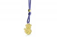 Cordino con ciondolo My Charm gufo laureato collezione Mini Charm in oro giallo o bianco 18kt
