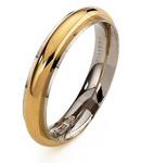 Andromeda - 18K Yellow and White Gold Wedding Ring Unoaerre