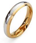 GioielleriaMaglione.it - Fede Nuziale Unoaerre modello Cassiopea in oro giallo e oro bianco 18kt