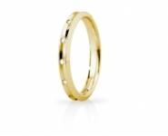GioielleriaMaglione.it - Fede Nuziale Unoaerre modello Corona Slim in oro giallo 18kt con 8 diamanti