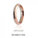 GioielleriaMaglione.it - Fede UNOAERRE modello ETERNA in oro bianco e rosa 18kt collezione 9.0