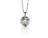 GioielleriaMaglione.it - Le Bebè - 18k White Gold with 0.12ct Diamond Boy and Girl Necklace