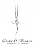 Girocollo con Croce Grama & Mounier con Diamanti da 0.06ct in oro bianco 18kt GM074