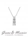 GioielleriaMaglione.it - Girocollo Trilogy Grama & Mounier con Diamanti da 0.13ct in oro bianco 18kt GM085