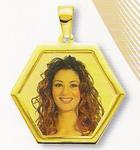 GioielleriaMaglione.it - Medaglia foto personalizzabile mod. NL/colore oro giallo 18kt