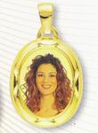 GioielleriaMaglione.it - Medaglia foto personalizzabile mod. PF/colore oro giallo 18kt