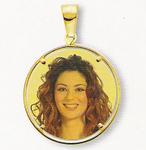 GioielleriaMaglione.it - Medaglia foto personalizzabile mod. RT/colore oro giallo 18kt