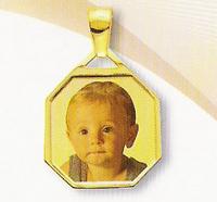 GioielleriaMaglione.it - Customizable Medal Photo in 18K Yellow Gold