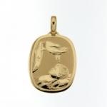 GioielleriaMaglione.it - Medaglia ovale con Fonte Battesimale in oro giallo 18kt
