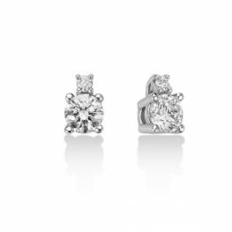 GioielleriaMaglione.it - Orecchini Miluna con 0.48ct di Diamanti Naturali in oro bianco 18kt ERD2495