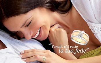 Vendita gioielli Vera anello coprifede con lettera oro e diamanti
