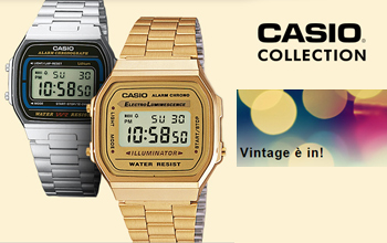 Vendita orologi Casio vintage digitale color oro o acciao